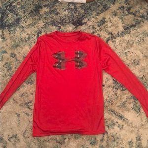 Boys Under Armour Loose Fit Heat Gear Shirt